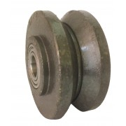 100mm V Grooved Cast Iron Wheel, 20mm Ball bearing, 250kg